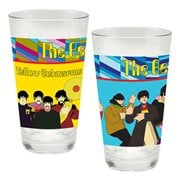 The Beatles Yellow Submarine 16 oz. Laser Decal Glass 2-Pack