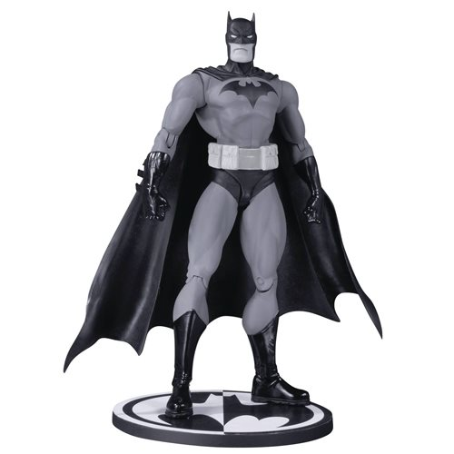 Batman Black and White Hush By Jim Lee Action Figure