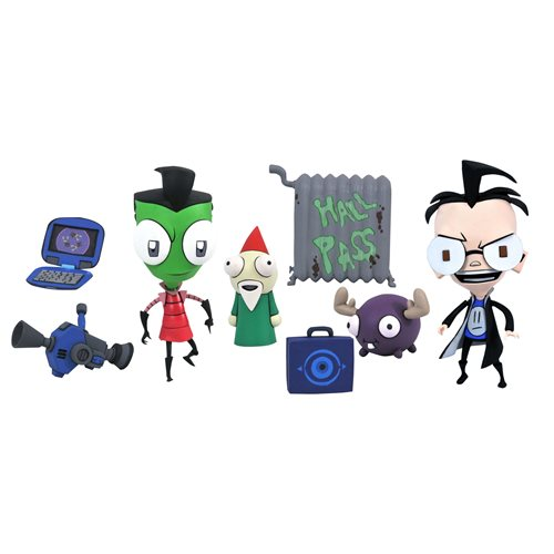 Invader Zim Series 1 Deluxe Zim in Boy Disguise and Dib Action Figure 2-Pack