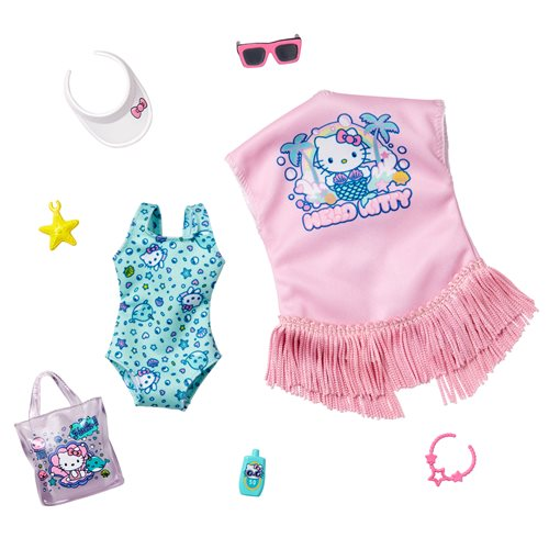 Barbie Hello Kitty Beach Fashion Pack 12