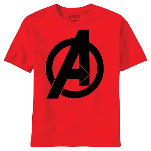 Avengers Movie Bold Logo Red T-Shirt
