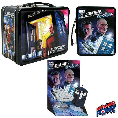 Doctor Who / Star Trek The Next Generation Monitor Mates in Tin - Convention Exclusive