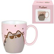 Pusheen the Cat Sunglass Gold Pink Mug