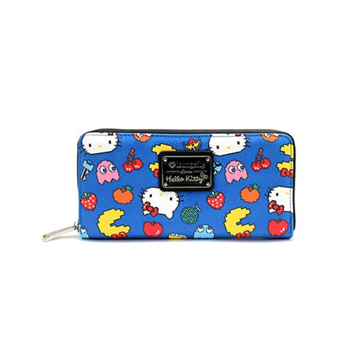 Hello Kitty Pac-Man Character Print Zip-Around Wallet