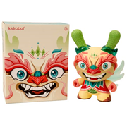 Kidrobot Imperial Lotus Dragon Dunny Tan by Scott Tolleson 8-inch Vinyl Figure, Not Mint