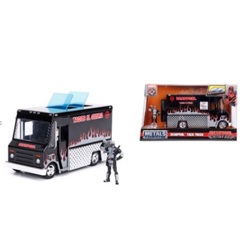 Marvel Deadpool Alternate Deco Taco Truck 1:24 Scale Die-Cast Metal Vehicle with 2 3/4-Inch Figure