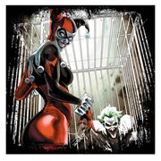 Batman Joker and Harley Quinn Locked Up Canvas Print