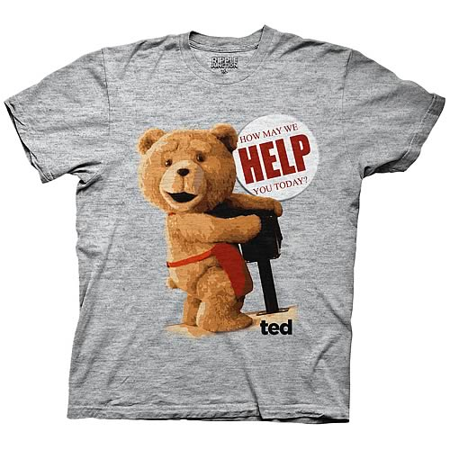 Ted How May We Help You Today Gray T-Shirt