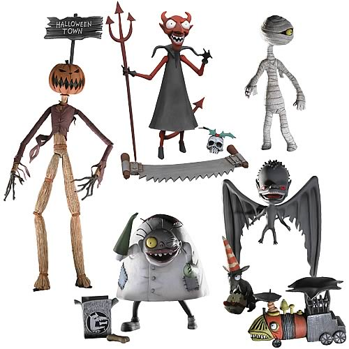 Nightmare Before Christmas Action Figures Series 4 Set