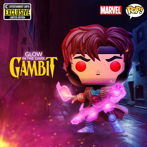 X-Men Gambit Glow-in-the Dark Pop! Vinyl Figure - Entertainment Earth Exclusive