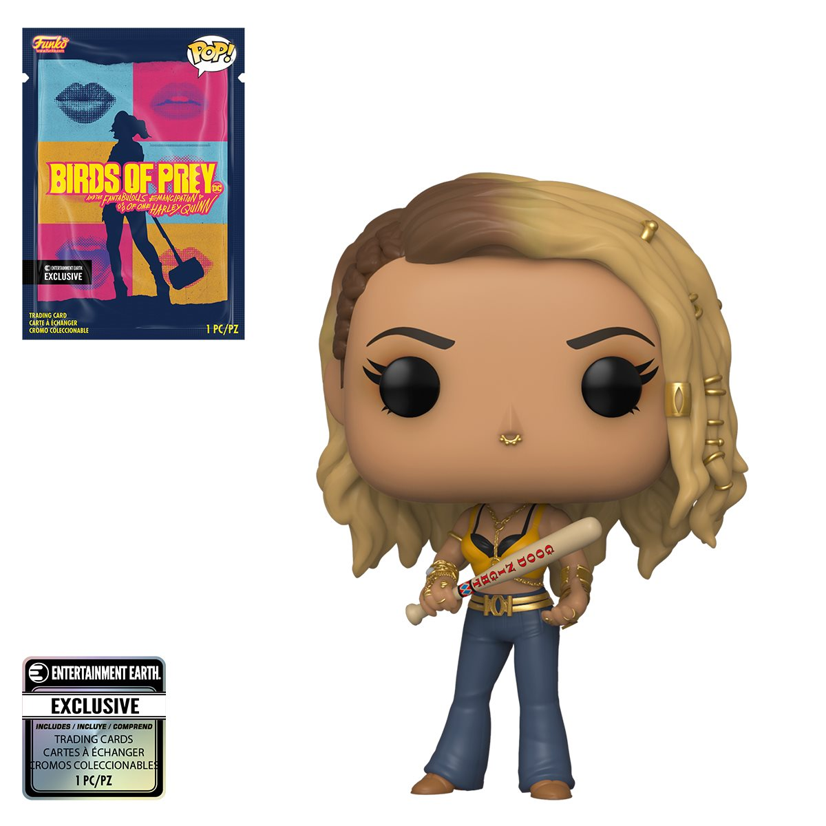Birds Of Prey Black Canary Pop Vinyl Figure With Collectible Card Entertainment Earth Exclusive Entertainment Earth