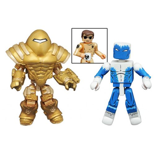 Marvel Minimates Blizzard and Armored SHIELD Mandroid Mini-Figure 2-Pack, Not Mint