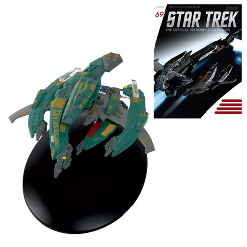 Star Trek Starships Breen Warship Die-Cast Vehicle with Collector Magazine #69