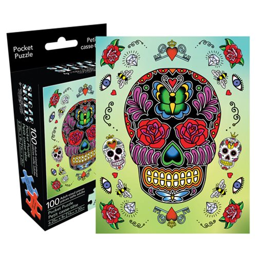 Sugar Skulls 100-Piece Pocket Puzzle