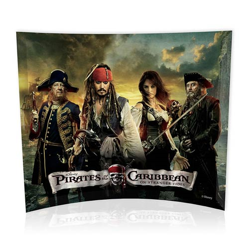 Pirates of the Caribbean On Stranger Tides Group Collage Curved Glass StarFire Photo