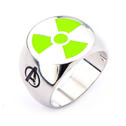 Avengers Hulk Green Radioactive Logo Steel Ring