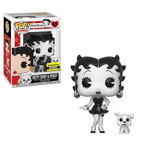 Betty Boop Black-and-White Pop! Vinyl Figure and Buddy - Entertainment Earth Exclusive