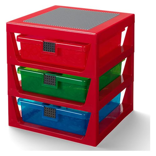 LEGO Red 3-Drawer Storage Rack