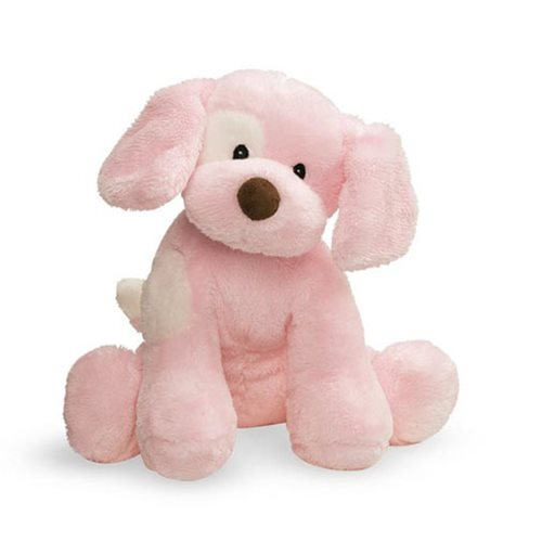 Spunky Dog Pink Sound Toy 8-Inch Plush