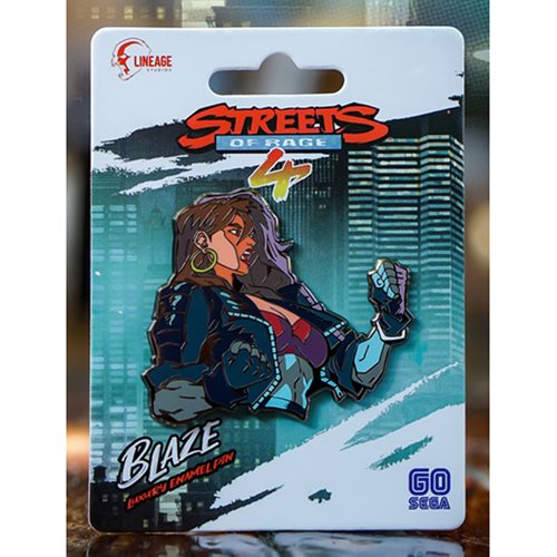 Streets Of Rage 4 Blaze Fielding Luxury Enamel Icon Pin