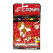 Melissa & Doug Fairy Tales Animal Families Scratch Art Color Reveal Pad