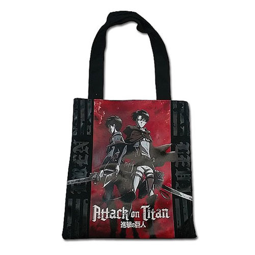 Attack On Titan Eren and Levi Tote Bag