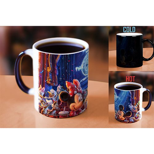 Disney 90 Years of Mickey Mouse Thomas Kinkade Heat-Sensitive Morphing Mug