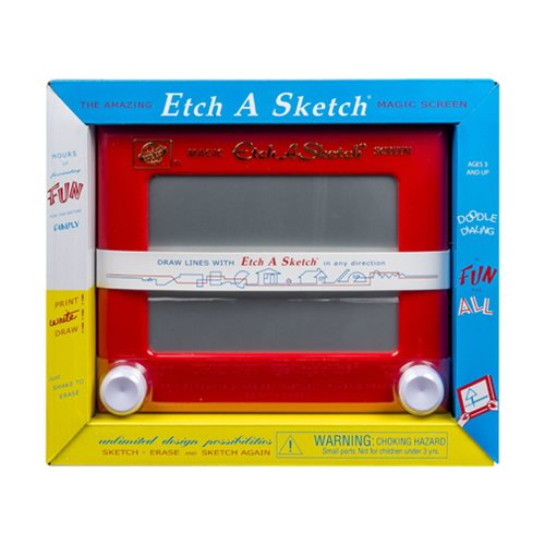 Etch A Sketch 1960 Red Drawing Pad