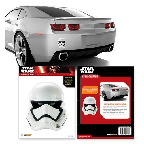 Star Wars: Episode VII   The Force Awakens First Order Stormtrooper Helmet  Car Decal