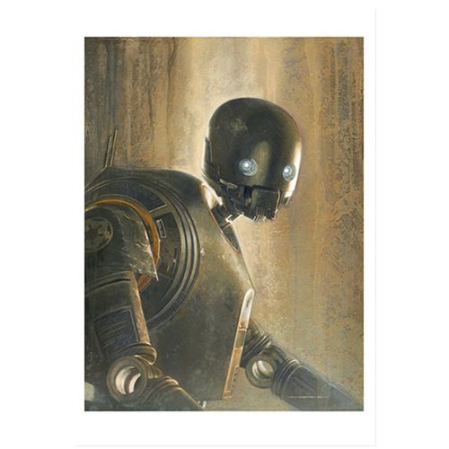 Star Wars Timeless Series K-2SO by Jerry Vanderstelt Paper Giclee Art Print