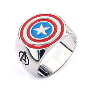 Avengers Captain America Shield Steel Ring