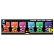 Batman Rainbow Series 3D Figural Key Chain 6-Pack Set - San Diego Comic-Con 2016 Exclusive