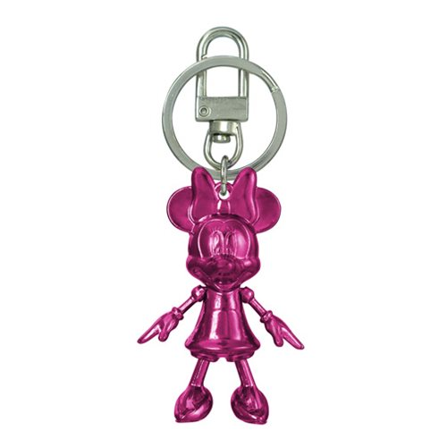 Minnie Mouse July Ruby Pewter Dangle Key Chain