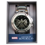Agents of SHIELD Silver Watch with Silver Metal Bracelet