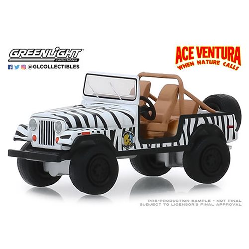 Ace Ventura: When Nature Calls (1995) - 1976 Jeep CJ-7 Hollywood Series 1:64 Scale Die-Cast Metal Ve