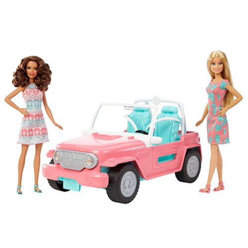 Barbie Doll and Jeep Vehicle Set