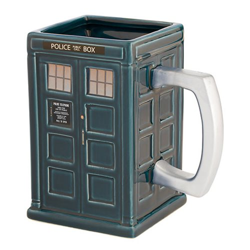 Doctor Who Tardis 18 oz Ceramic Sculpted Mug