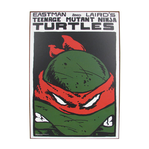 Teenage Mutant Ninja Turtles Red Mask Wood Wall Sign