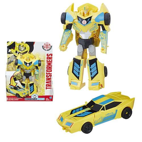 Transformers Robots in Disguise Hyper Change Heroes 3-Step Power Surge Bumblebee