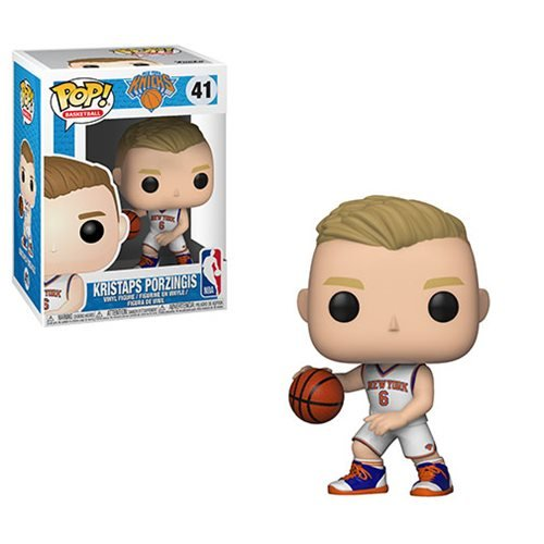 NBA Kristaps Porzingis Knicks Pop! Vinyl Figure #41