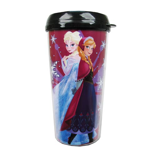 Disney Frozen Elsa and Anna Frozen Princesses Plastic Travel Mug