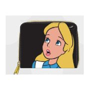 Alice in Wonderland Surprised Zip Around Wallet