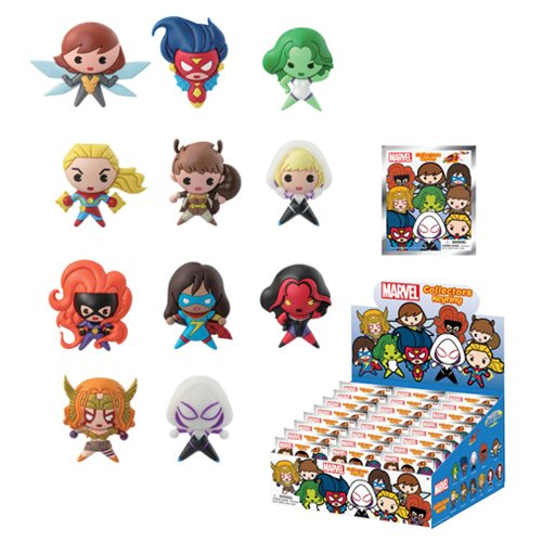 Marvel Series 7 3-D Figural Key Chain 6-Pack