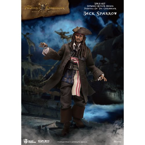 Pirates of the Caribbean Jack Sparrow DAH-017 Dynamic 8-Ction Heroes Action Figure