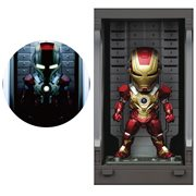 Iron Man 3 Iron Man MK XVII MEA-022 Figure with Hall of Armor Display