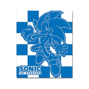 Sonic the Hedgehog Sonic White and Blue Throw Blanket