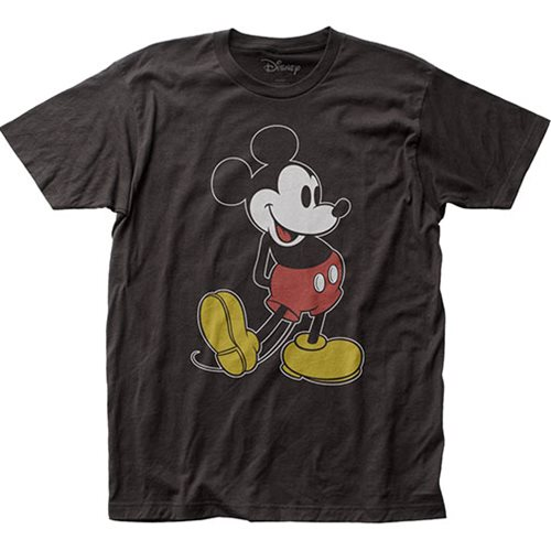 Mickey Mouse Pose Black T-Shirt