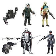 Star Wars Shoretrooper, Bistan, Finn, and Phasma Action Figures Bundle - Entertainment Earth Exclusive
