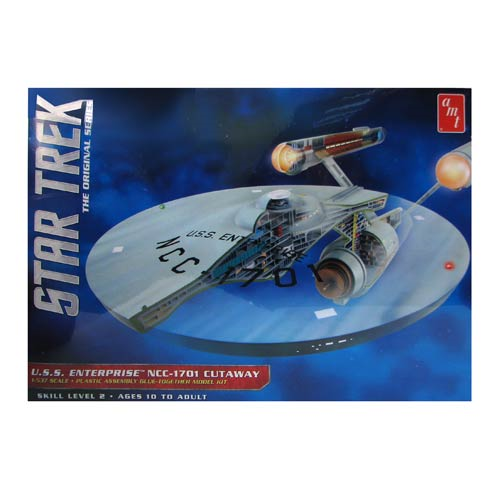 Star Trek The Original Series Enterprise Cutaway Model Kit