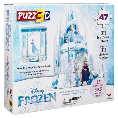Disney Frozen 2 Ice Castle Plastic Hologram Puzz 3D 47-Piece Puzzle